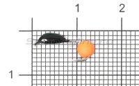 Мормышка Банан d2 ядреный глаз оранжевый неон