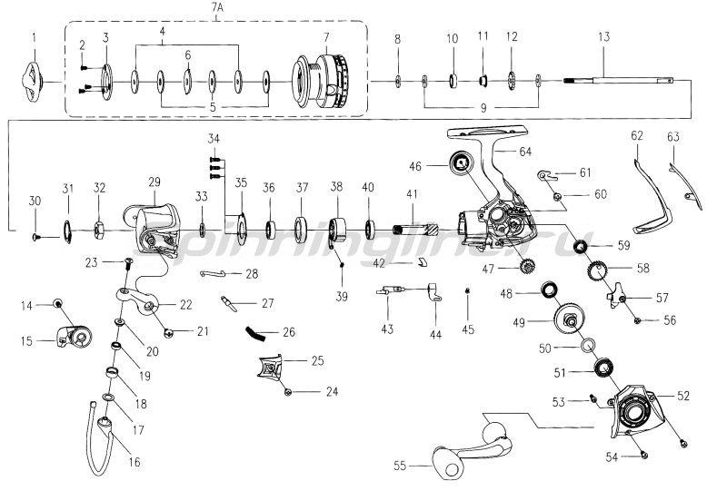 Катушка Mitchell MX5 Spin 25 FD -  7