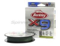 Шнур Berkley X9 Braid Low Vis Green 150м 0,08мм