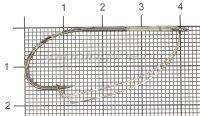 Крючок KOI Weedless Single Hook №1/0