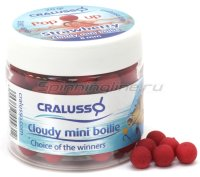 Бойлы Cralusso Pop-Up Mini Boilie Strawberry Cloudy 12мм 40гр