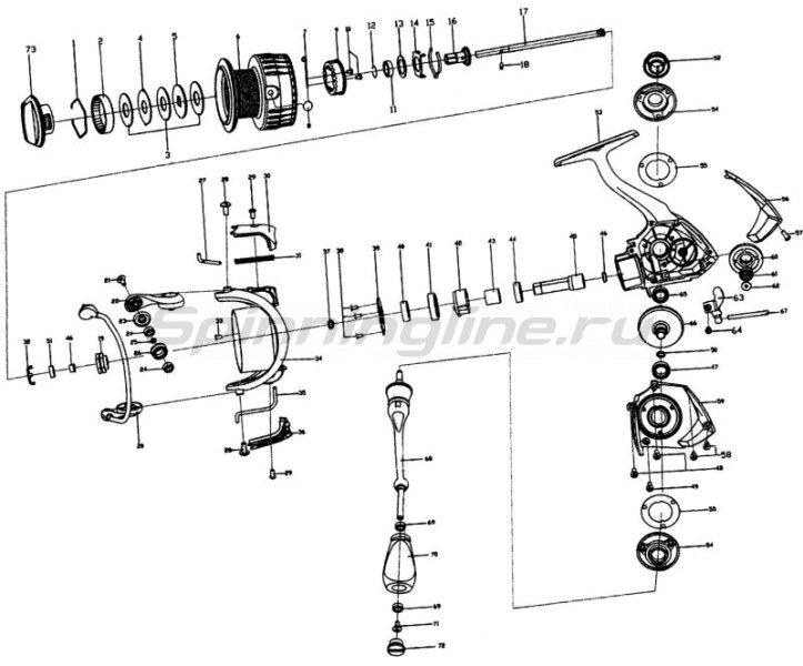 Катушка Stinger Innova NS 1500 -  8