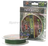 Шнур Sprut Nagato Hard Ultimate Braided Line x4 140м 0,14мм Dark Green