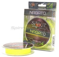 Шнур Sprut Nagato Hard Ultimate Braided Line x4 140м 0,18мм Fluo Yellow
