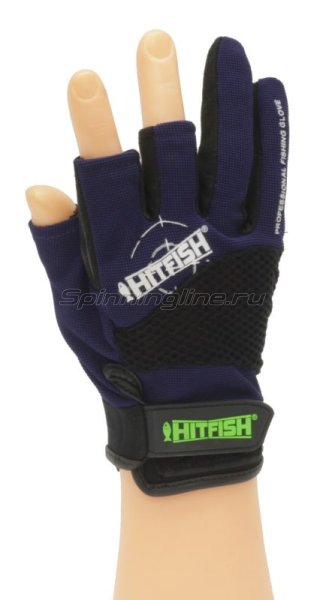 Перчатки Hitfish Glove-08 L синий -  1