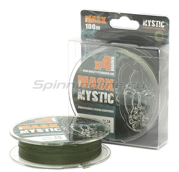 Шнур Akkoi Mask Mystic X4 Deep Green 100м 0,20мм -  1