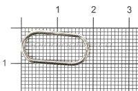 Кольцо заводное Behr Springringe Oval Gr.15мм 80кг