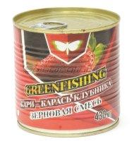 Зерновой микс Greenfishing Карп-Карась-Клубника 430гр