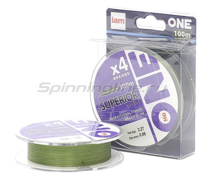 """Шнур """"№ONE"""" Superior X4 100м 0,18мм navi green -  1"""