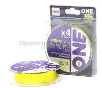 """Шнур """"№ONE"""" Superior X4 100м 0,14мм yellow"""