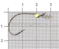Крючок Worm 310 LEHS №2 BN