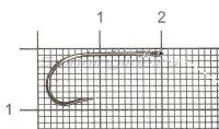 Крючок Saikyo KP-11014 Worm BN №8