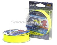 Шнур Hybrid  PE F4 135м 0,14мм Fluo Yellow