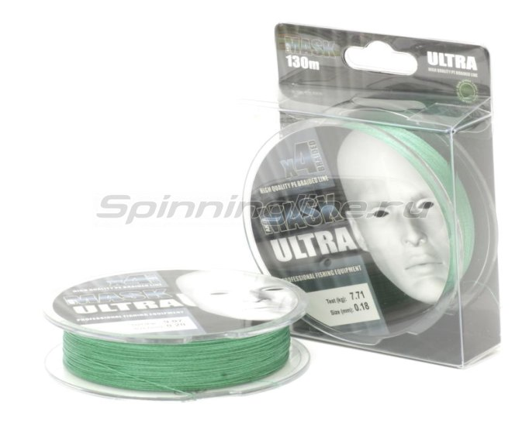 Шнур Akkoi Mask Ultra X4 130м 0,06мм dark green -  1