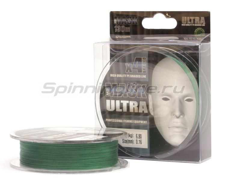 Шнур Akkoi Mask Ultra X4 130м 0,18мм dark green -  1