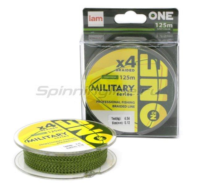 """Шнур """"№ONE"""" Military X4 125м 0,10мм spot color -  1"""