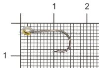 Мормышка свинцовая с коронкой Shape MA08 латунь