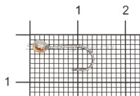 Мормышка свинцовая с коронкой Shape MA10 медь