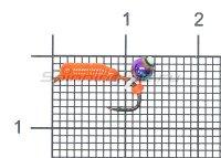 Набор мормышек вольфрамовых Левша-НН Caddis № 41-2