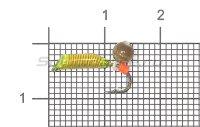Набор мормышек вольфрамовых Левша-НН Caddis № 52-3