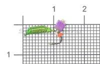Набор мормышек вольфрамовых Левша-НН Caddis № 71 Микс