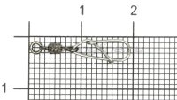 Застежка с вертлюгом Dragon Super Lock 12