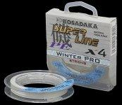 Плетеные шнуры Kosadaka Super Line PE X4 Winter Pro