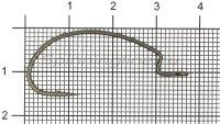 Крючок Ryugi The Standard Hook №1/0