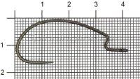 Крючок Ryugi The Standard Hook №2/0