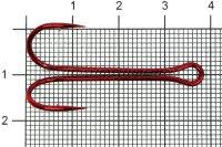 Двойник Double Hook Long SS №1 Red