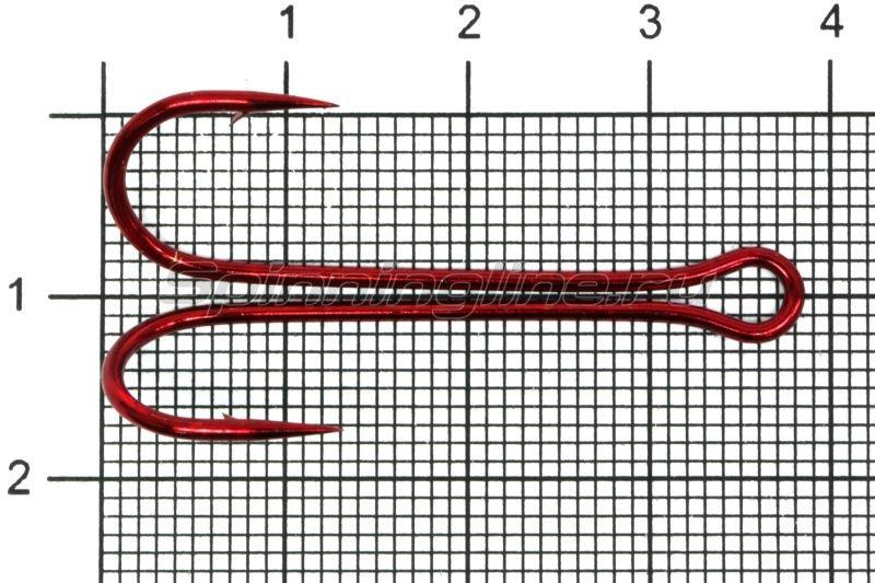 Двойник Flagman Double Hook Long SS №1 Red, арт. FDH-LR01 – купить по цене 84 рубля в Москве с доставкой по России в рыболовном интернет-магазине Spinningline