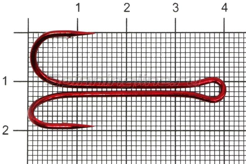 Двойник Flagman Double Hook Long SS №1/0 Red, арт. FDH-LR10 – купить по цене 70 рублей в Москве с доставкой по России в рыболовном интернет-магазине Spinningline