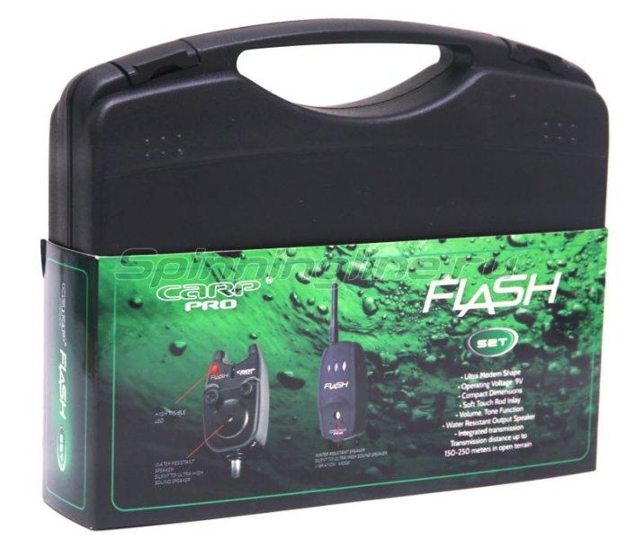 Набор электронных сигнализаторов поклевки Carp Pro Flash Set 2+1 -  4