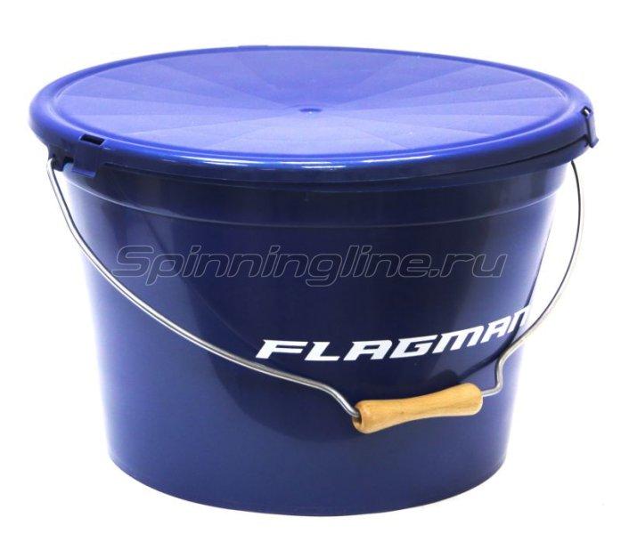 Ведро с крышкой Flagman 13л синее -  1