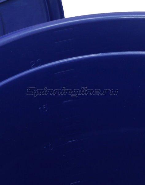 Ведро с крышкой Flagman 25л синее -  2
