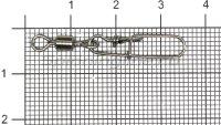 Вертлюг с карабином Daiwa Super Safe L. Swivel Type 2 №2