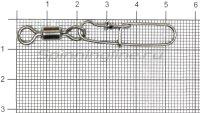 Вертлюг с карабином Daiwa Super Safe L. Swivel Type 2 №2/0