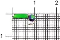 Мормышка Volfram37 Столбик d1.5 граненый шарик хамелеон зеленый