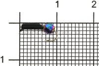 Мормышка Volfram37 Столбик d1.5 граненый шарик хамелеон черный