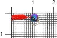 Мормышка Столбик d2 граненый шарик хамелеон красный