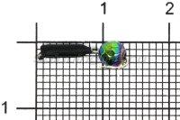 Мормышка Volfram37 Столбик d2 граненый шарик хамелеон черный