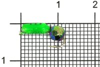 Мормышка Volfram37 Столбик d2.5 граненый шарик хамелеон зеленый