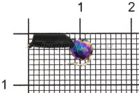 Мормышка Volfram37 Столбик d2.5 граненый шарик хамелеон черный