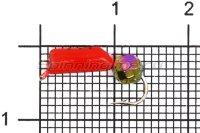 Мормышка Wormix Столбик d3 граненый шарик хамелеон красный