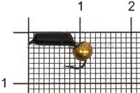 Мормышка Столбик d2.5 латунный шарик