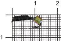 Мормышка Столбик d2 кубик хамелеон