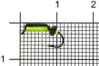 Мормышка Столбик d2 флуоресцентный черный