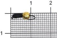 Мормышка Volfram37 Уралка d2.5 латунный шарик черный