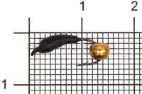 Мормышка Volfram37 Уралка d3 латунный шарик черный