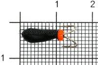 Мормышка Volfram37 Коза Уралка d4 перевертыш с коронкой